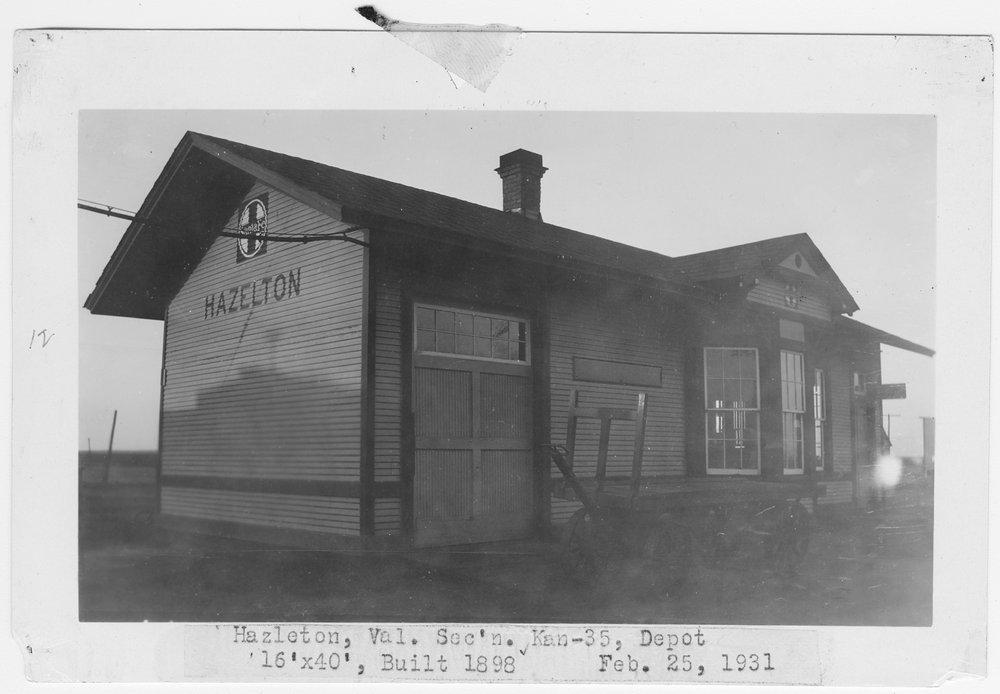 Atchison, Topeka and Santa Fe Railway Company depot, Hazelton, Kansas