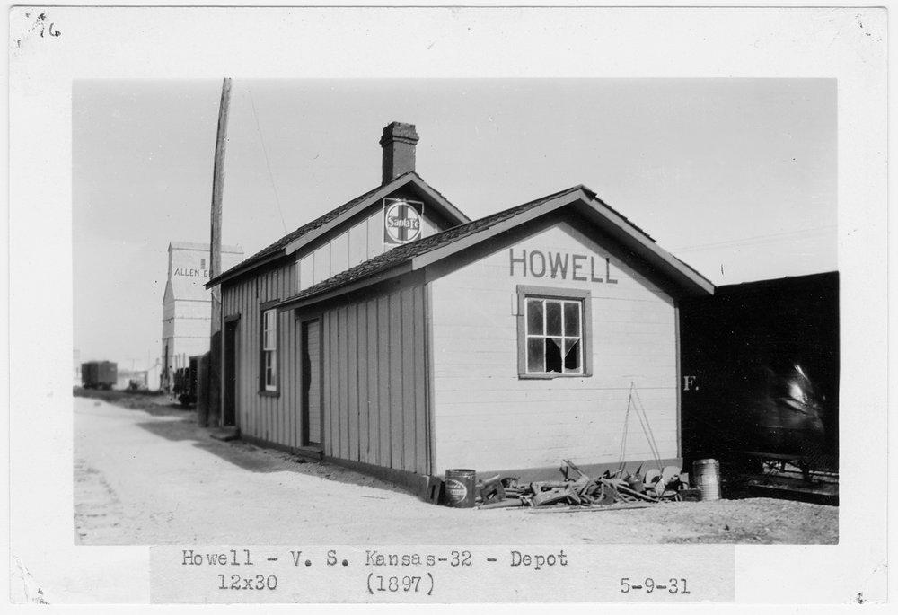 Atchison Topeka and Santa Fe Railway Company depot, Howell, Kansas