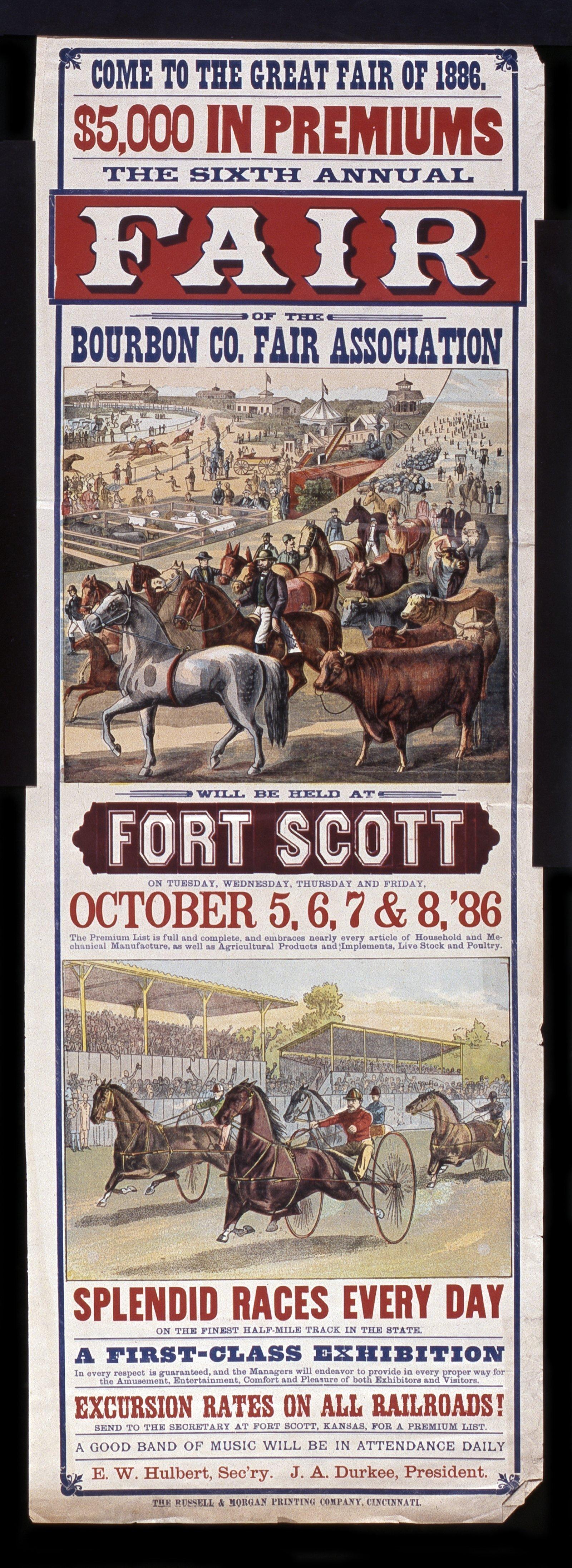 Sixth annual fair of the Bourbon County Fair Association