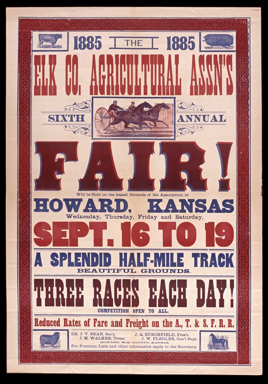 Elk County Agricultural Association's sixth annual fair, Howard, Kansas