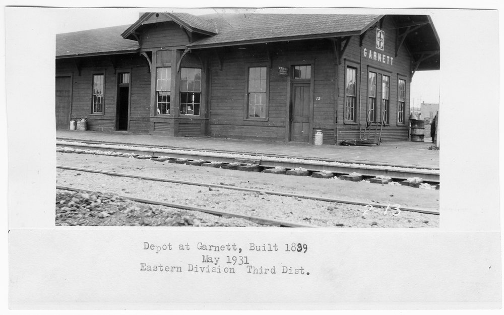 Atchison, Topeka and Santa Fe Railway Company depot, Garnett, Kansas