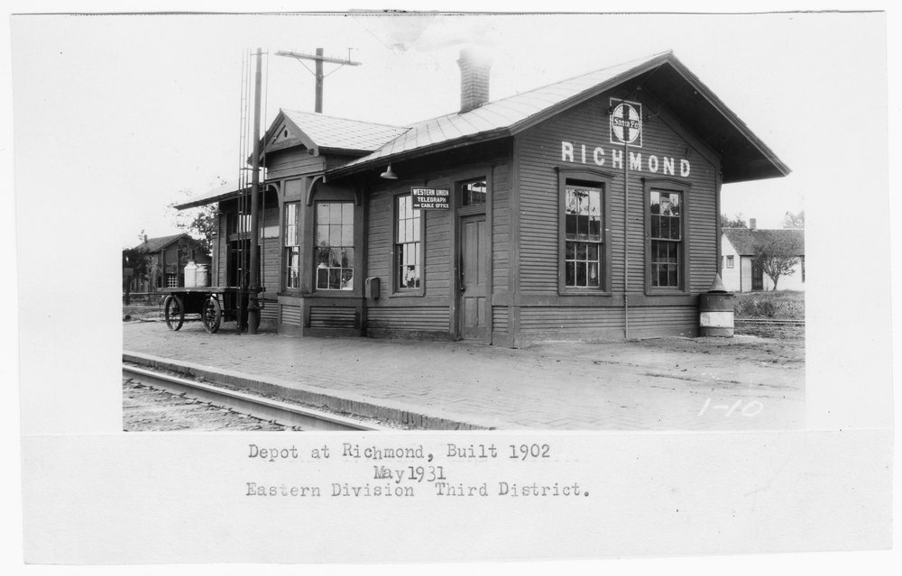 Atchison, Topeka and Santa Fe Railway Company depot, Richmond, Kansas