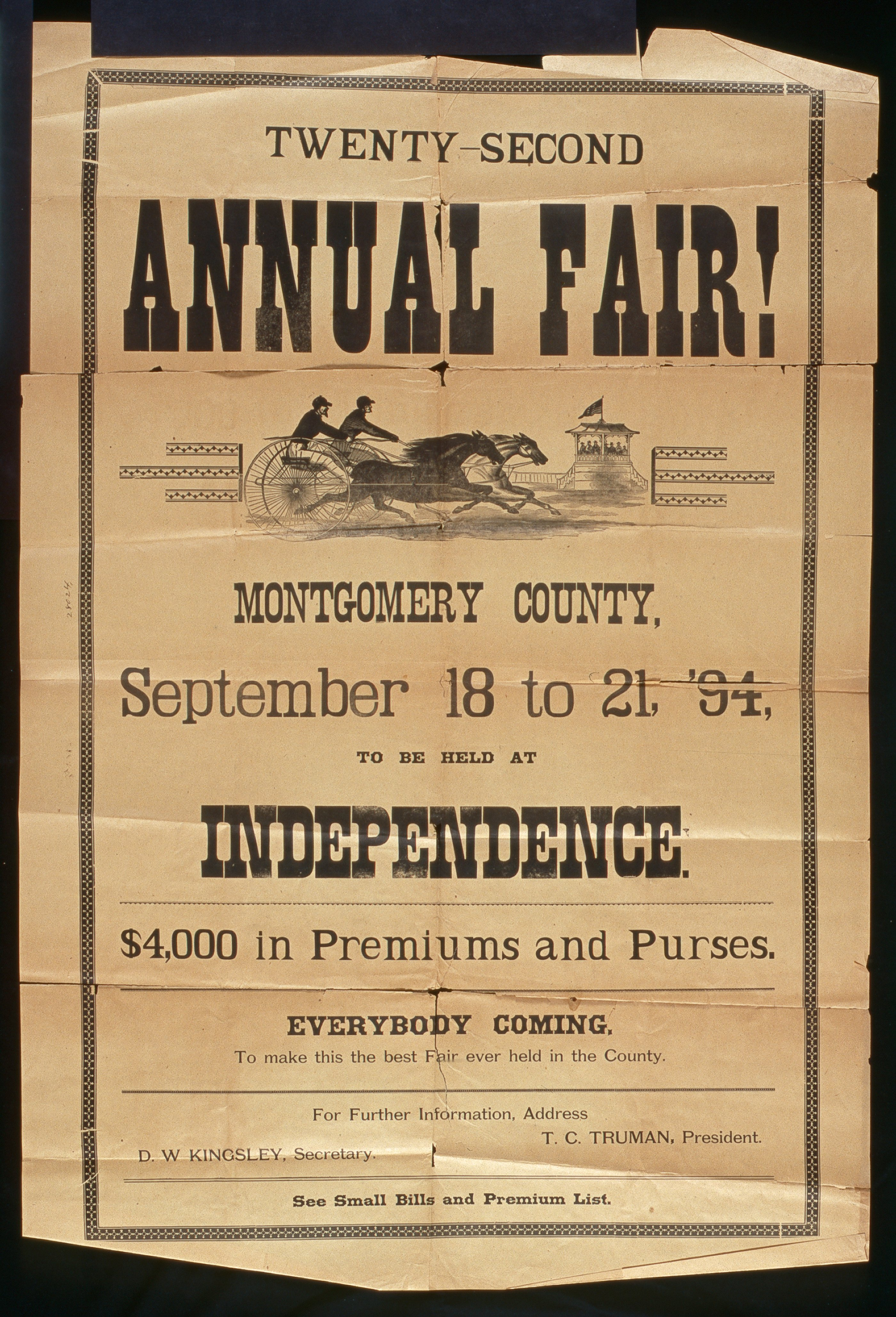 Twenty-second annual fair, Montgomery County, Independence, Kansas