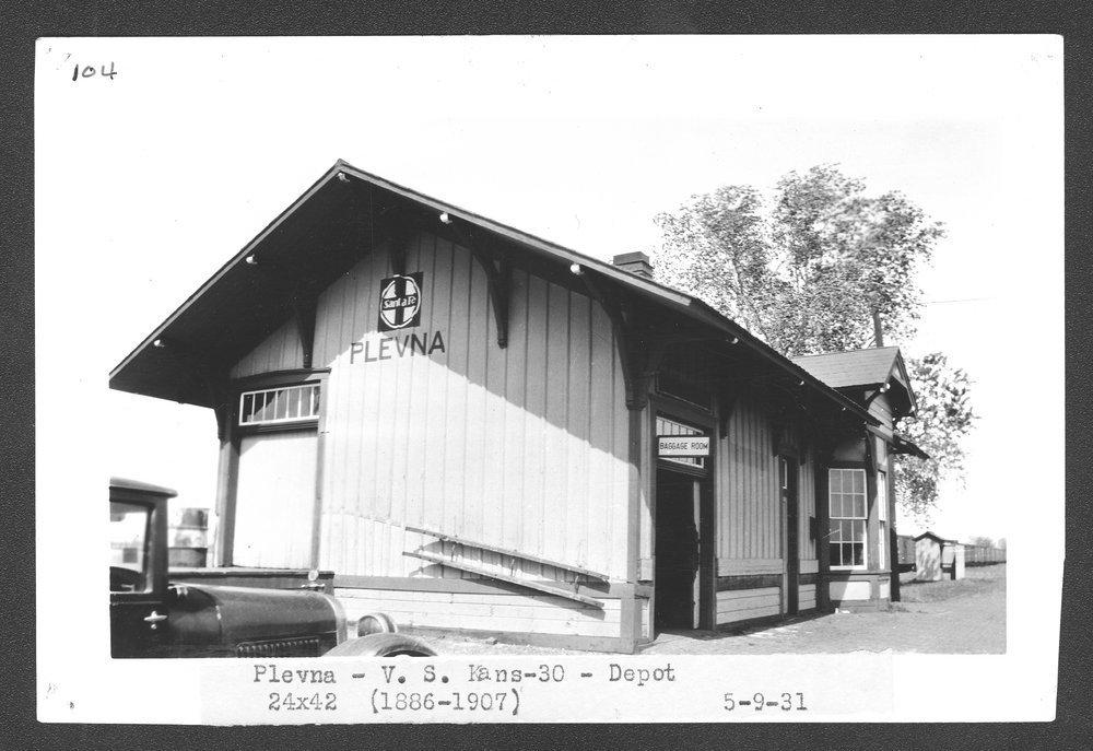 Atchison, Topeka and Santa Fe Railway Company depot, Plevna, Kansas