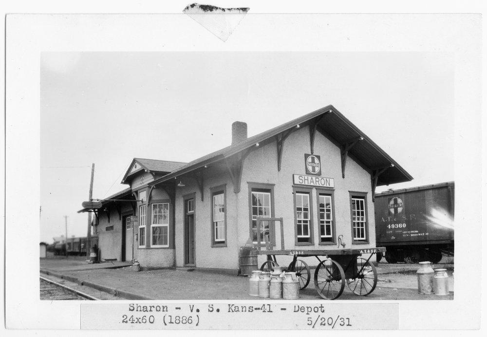 Atchison, Topeka and Santa Fe Railway Company depot, Sharon, Kansas