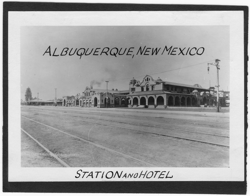 Atchison, Topeka and Santa Fe Railway Company depot and Fred Harvey House, Albuquerque, New Mexico