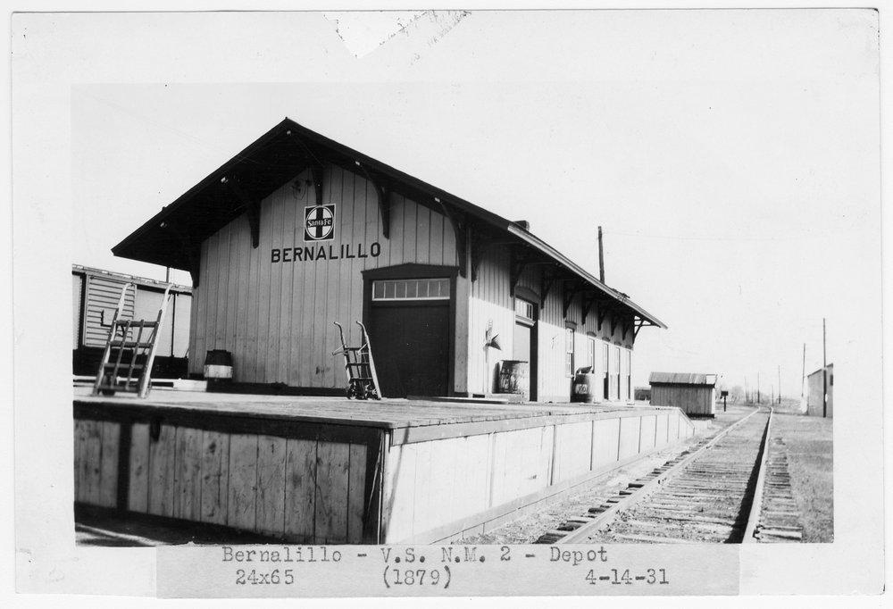 Atchison, Topeka and Santa Fe Railway Company depot, Bernalillo, New Mexico