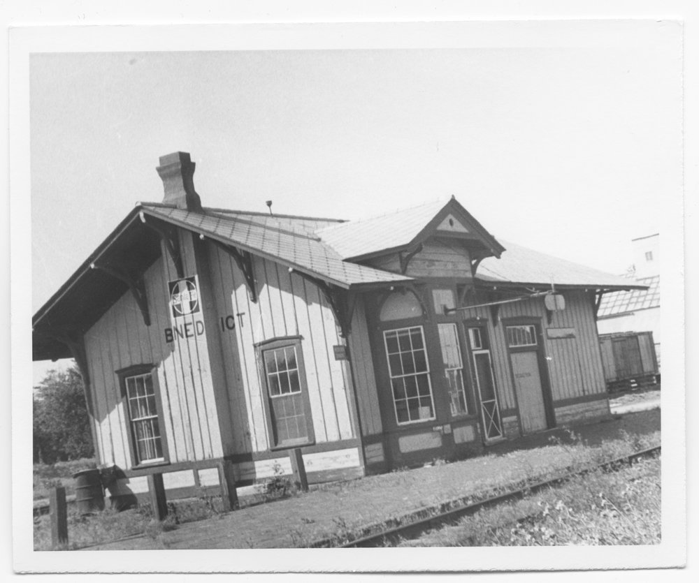 Atchison, Topeka and Santa Fe Railway Company depot, Benedict, Kansas