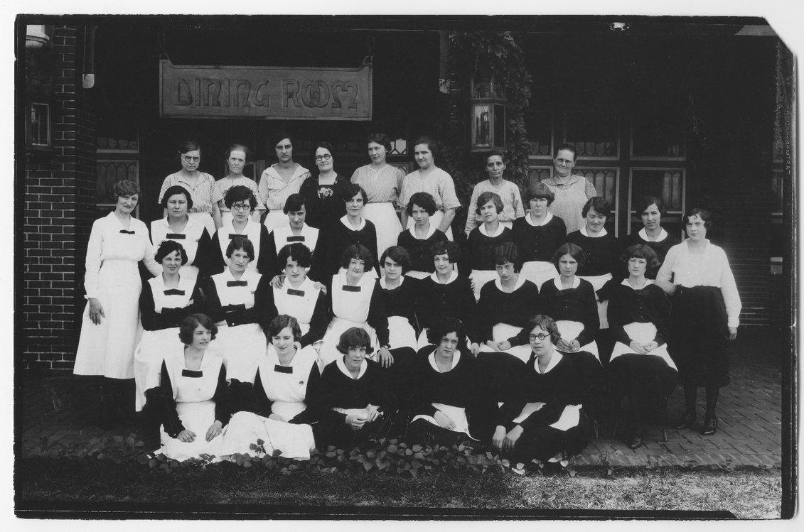 Atchison, Topeka & Santa Fe Railway Company's  Fred Harvey staff, Hutchinson, Kansas