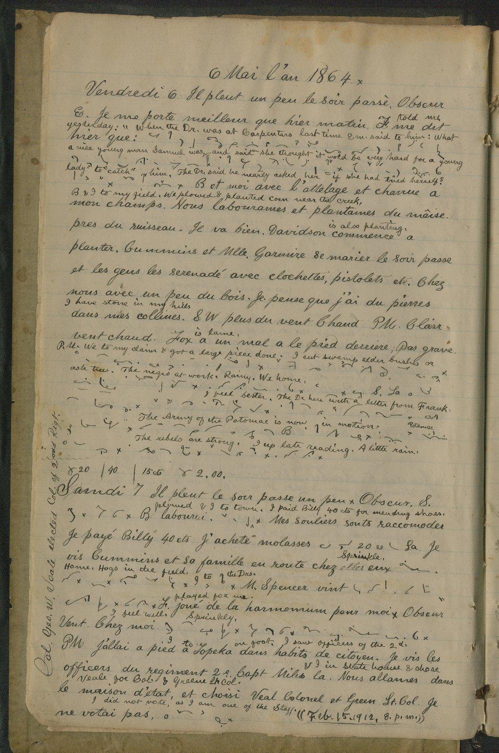 Samuel Reader's diary, volume 6 - 4