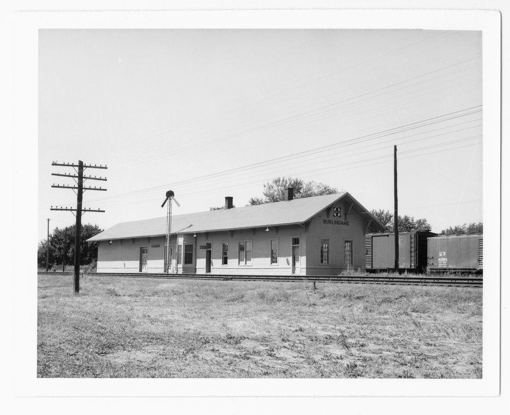 Atchison, Topeka and Santa Fe Railway Company depot, Burlingame, Kansas - 1