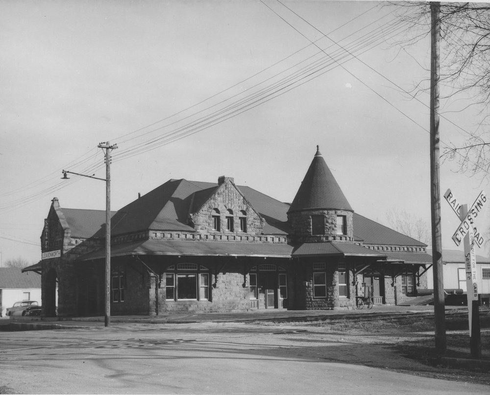 Atchison,Topeka and Santa Fe Railway Company depot, Leavenworth, Kansas