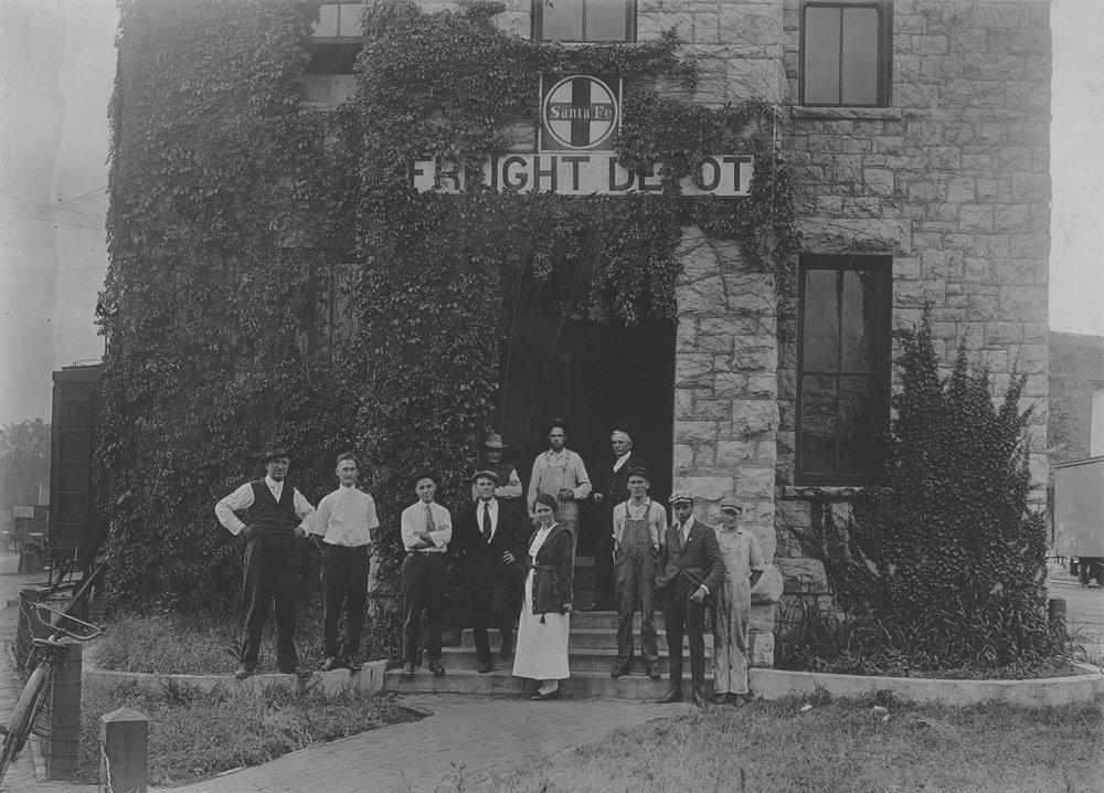 Atchison, Topeka & Santa Fe Railway Company's freight depot, Leavenworth, Kansas