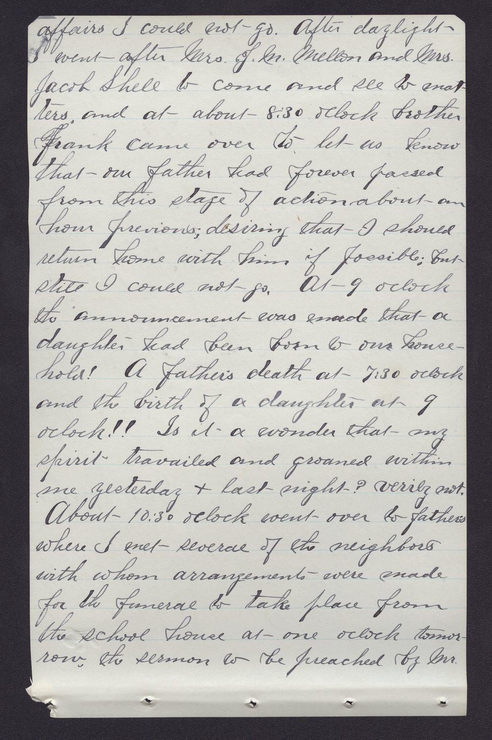 Elam Bartholomew diary - Jan 3, 1881 (2)