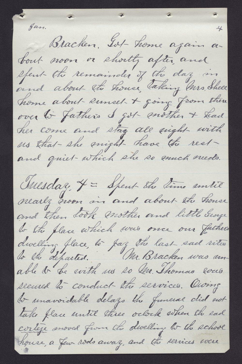 Elam Bartholomew diary - Jan 4, 1881 (1)