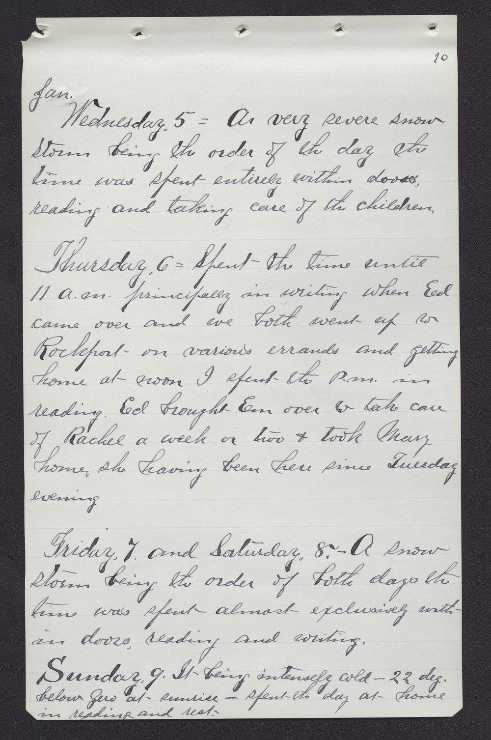 Elam Bartholomew diary - Jan 5, 1881