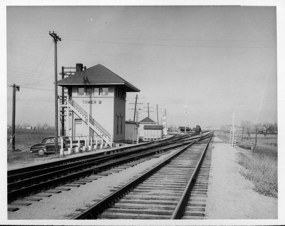 """Atchison, Topeka and Santa Fe Railway Company tower """"B"""", El Dorado, Kansas"""