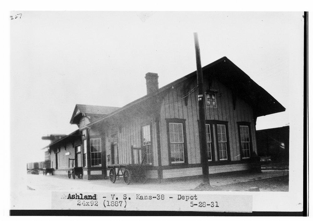 Atchison, Topeka and Santa Fe Railway Company depot, Ashland, Kansas