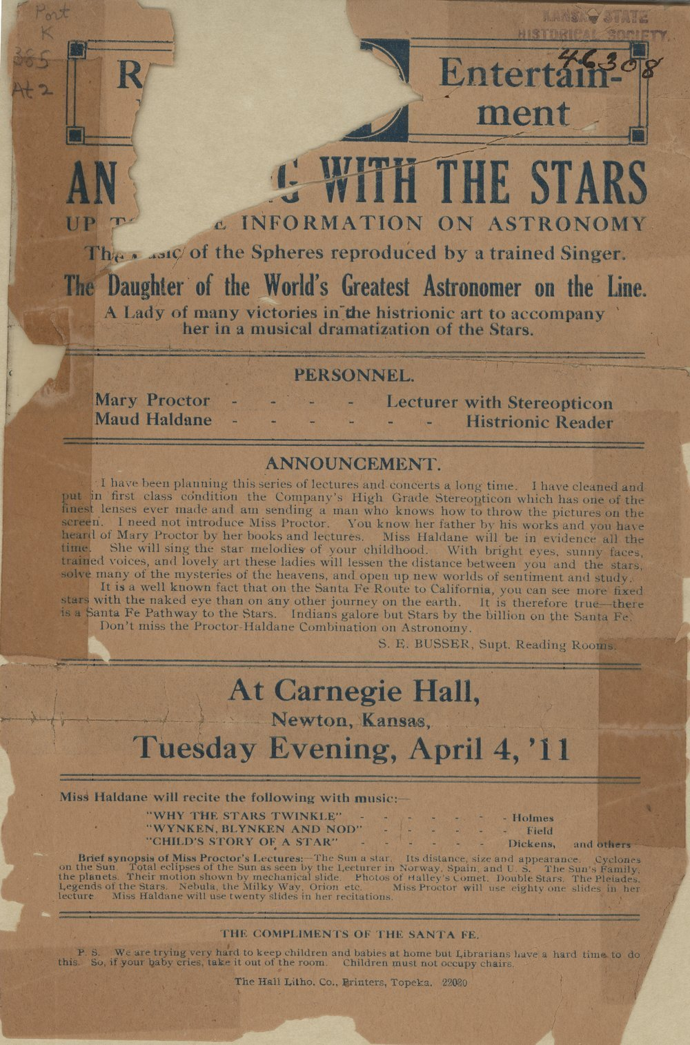 An evening with the stars, Atchison, Topeka & Santa Fe Railway