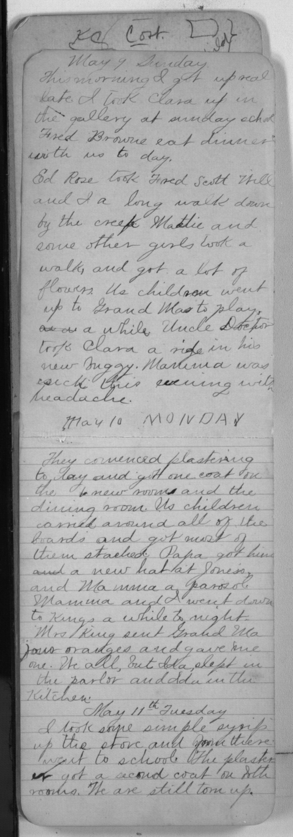 "Edward S. (""Ned"") Beck diaries - May 9, 1880"