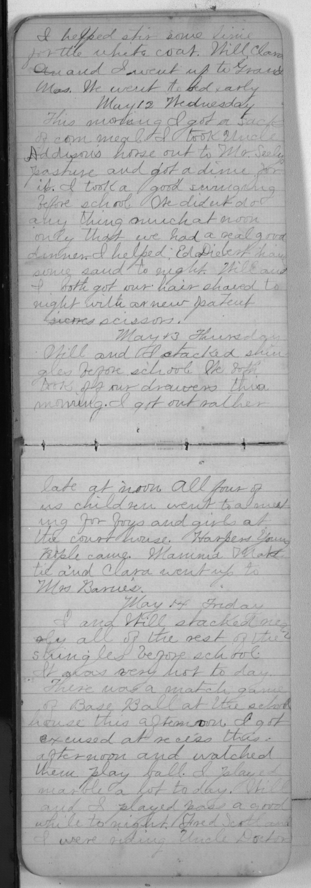 "Edward S. (""Ned"") Beck diaries - May 12, 1880"