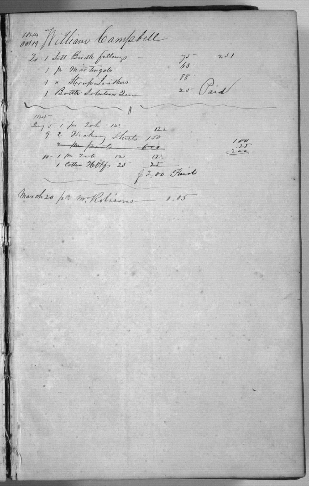 Post sutler's day book, Fort Scott - 5