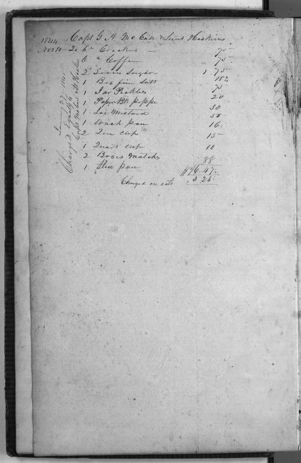 Post sutler's day book, Fort Scott - 6