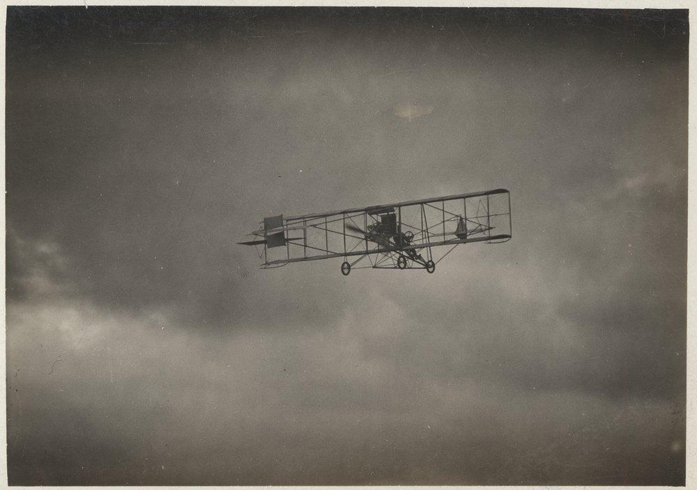 Albin K. Longren's first flight