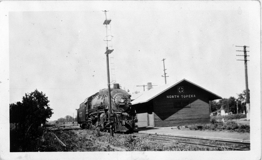 Atchison, Topeka and Santa Fe Railway Company depot, North Topeka, Kansas