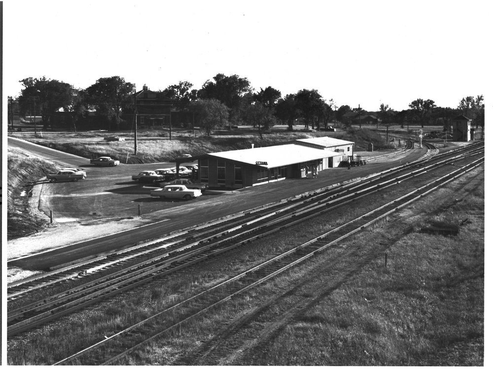 Atchison, Topeka and Santa Fe Railway Company depot and interlocking tower, Ottawa, Kansas