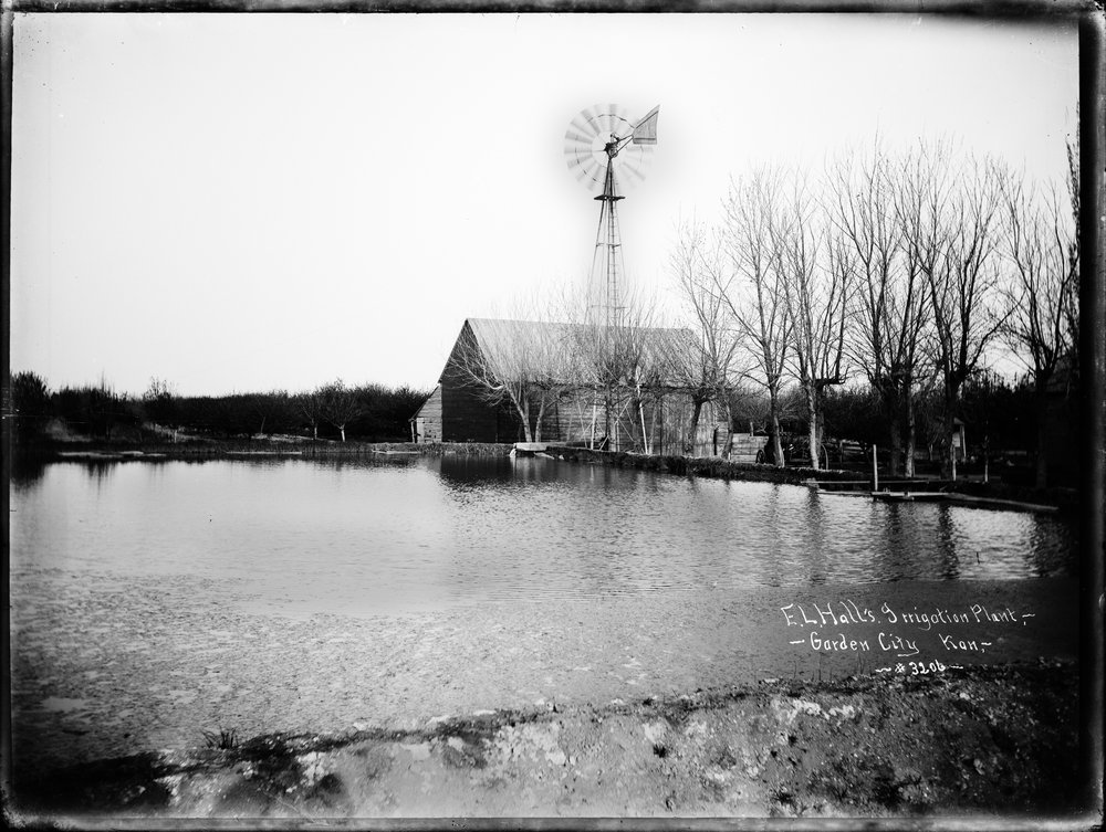 E.L. Hall's irrigation plant, Garden City, Finney County, Kansas