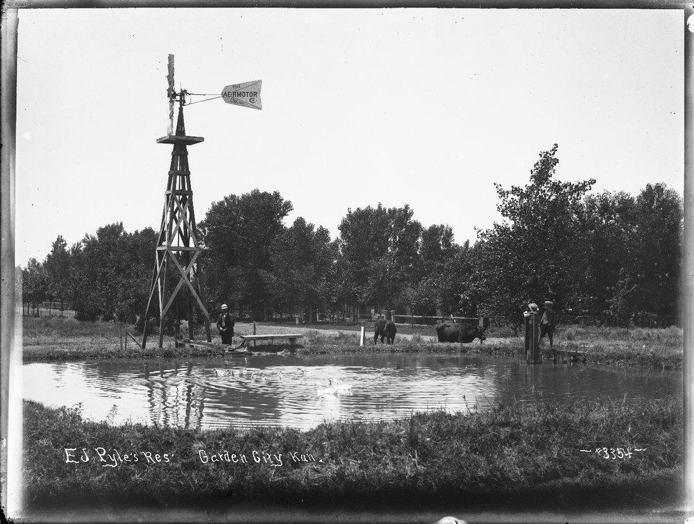 E. J. Pyle's reservoir, Garden City, Finney County, Kansas