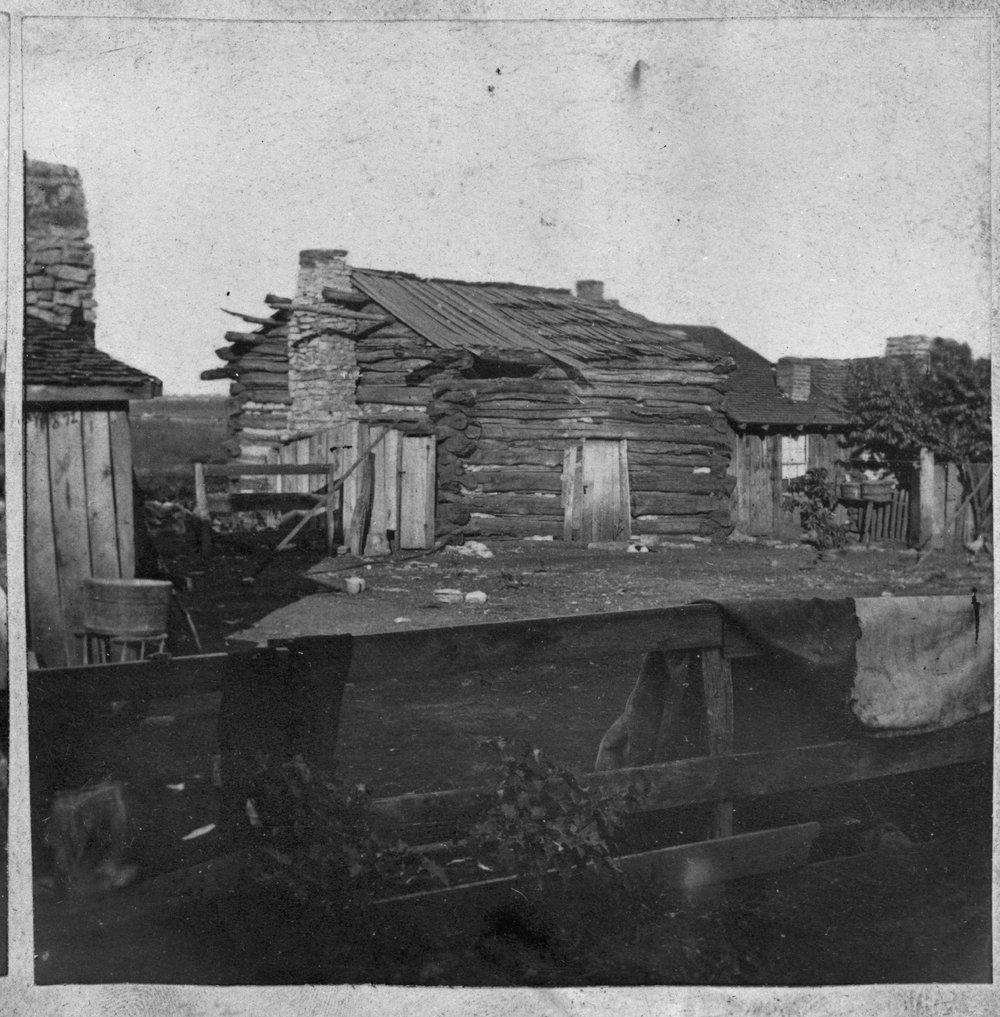Ft. Scott log cabin