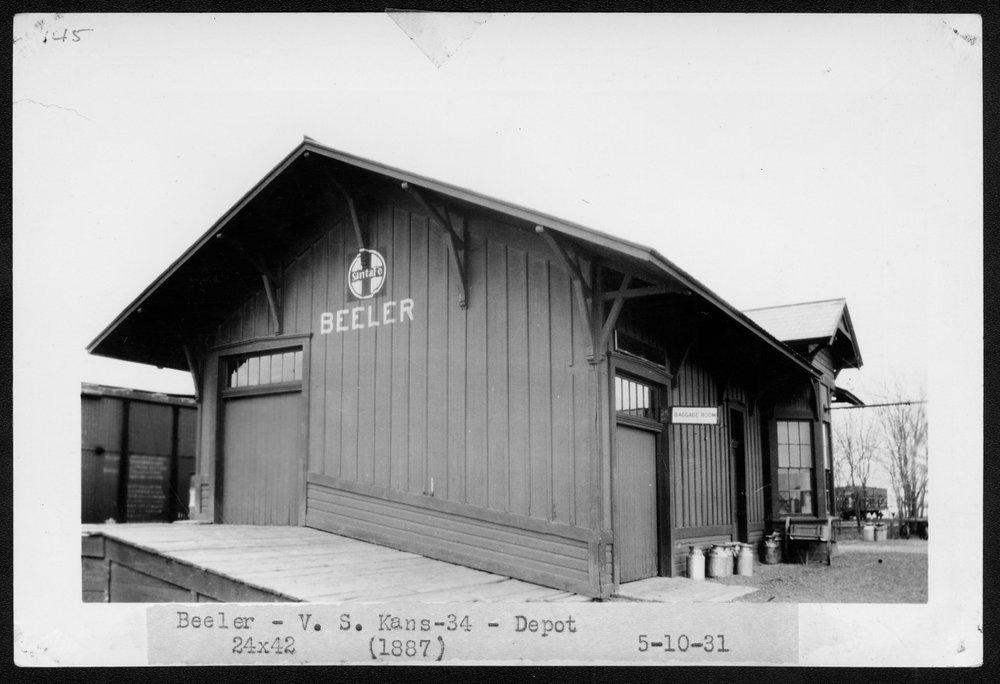 Atchison, Topeka and Santa Fe Railway Company depot, Beeler, Kansas