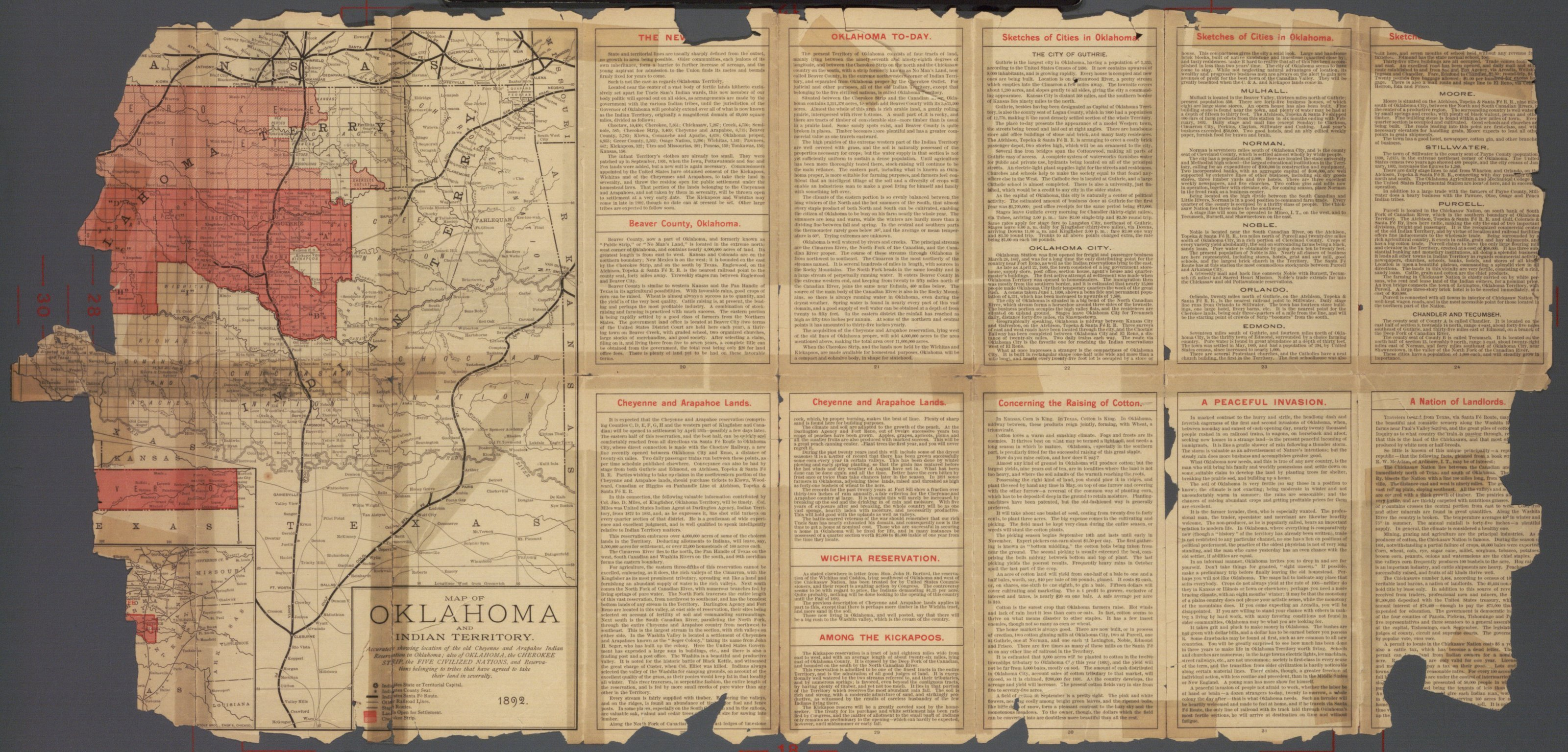 Beautiful Oklahoma and Indian Territory - 1