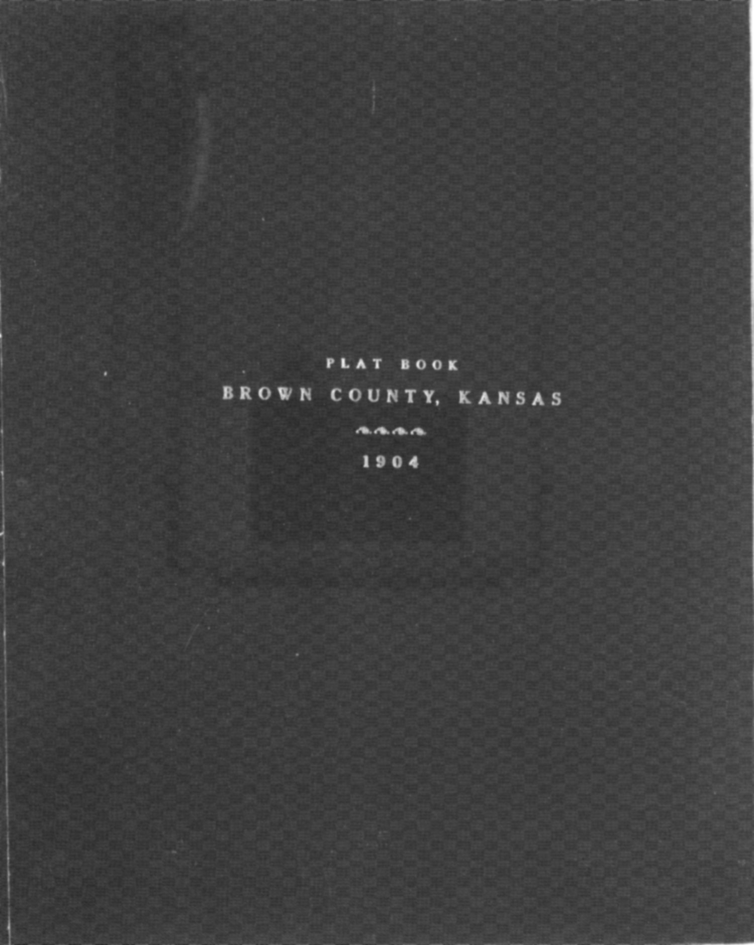 Plat book of Brown County, Kansas - Cover