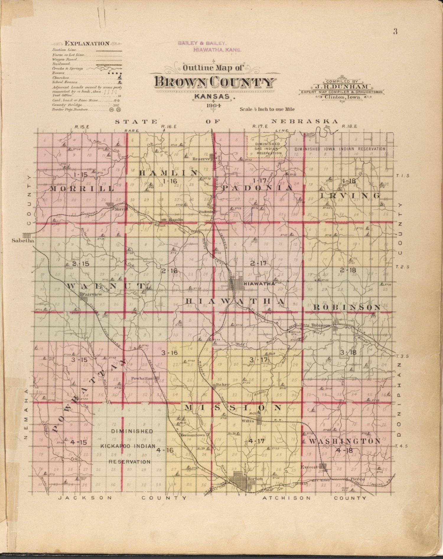 Plat book of Brown County, Kansas - 3