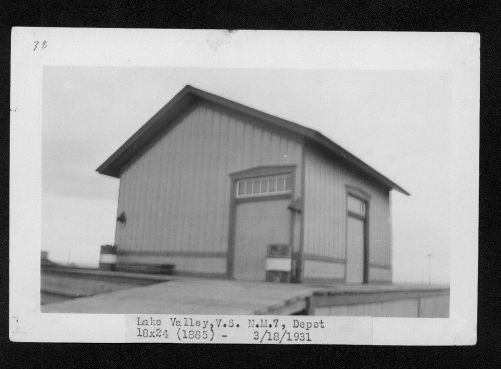 Atchison, Topeka & Santa Fe Railway Company depot, Lake Valley, New Mexico