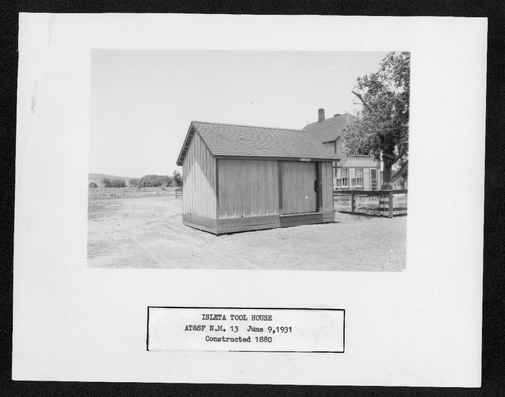 Atchison, Topeka & Santa Fe Railway Company tool house, Isleta, New Mexico