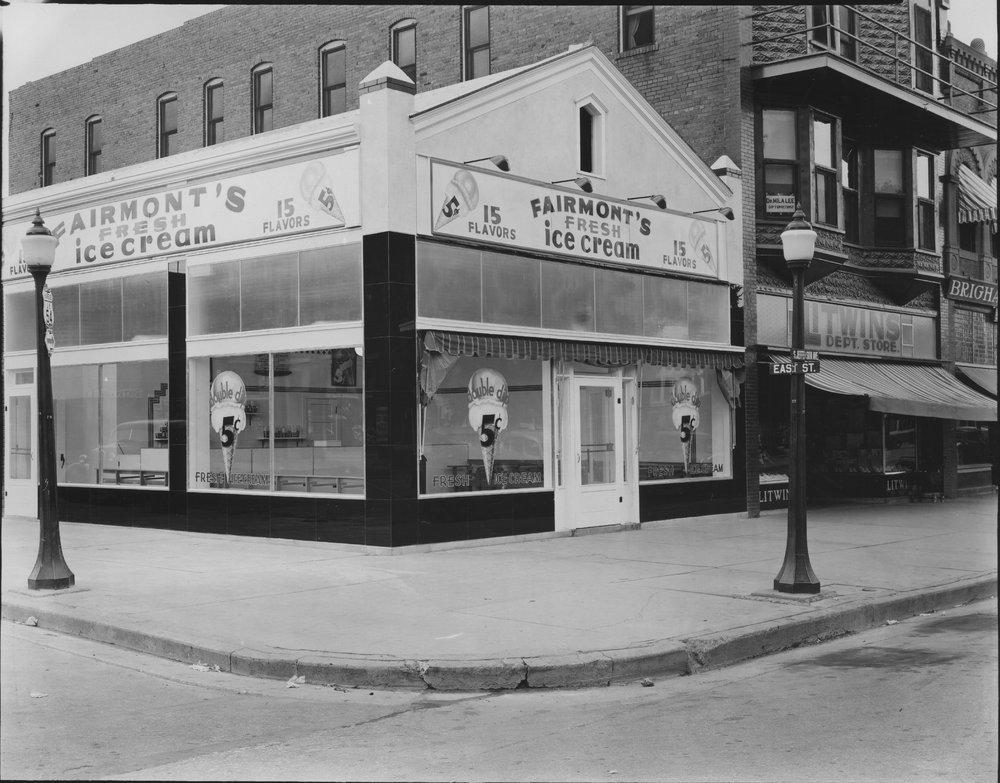 Fairmont ice cream store, Iola, Kansas