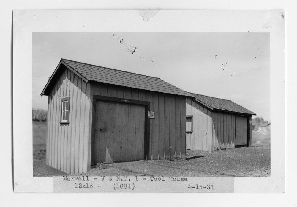 Atchison, Topeka & Santa Fe Railway Company tool house, Maxwell, New Mexico