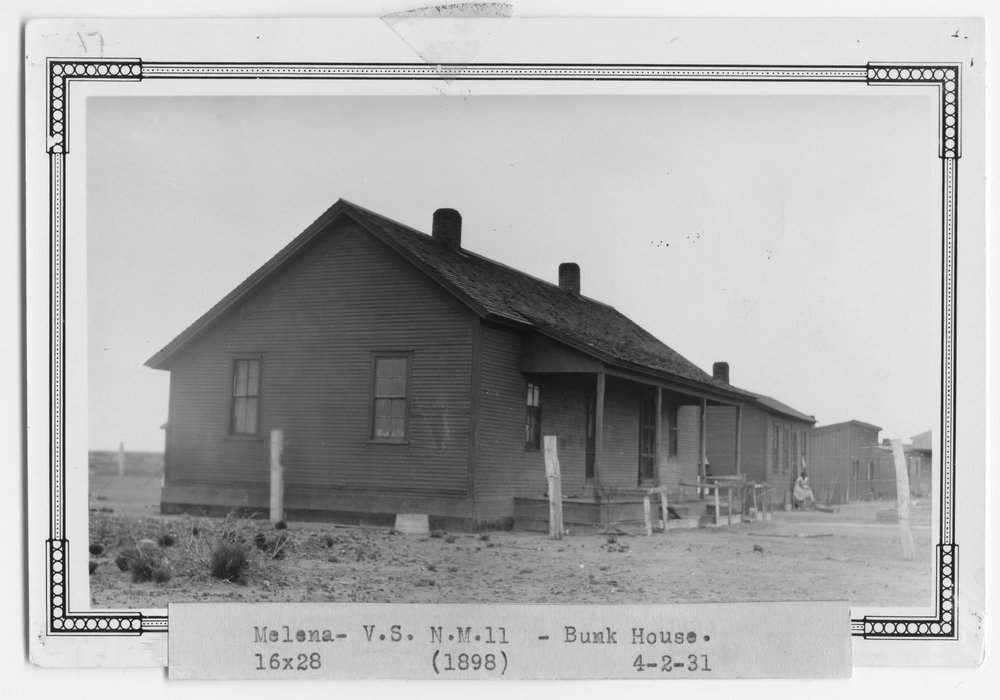 Atchison, Topeka & Santa Fe Railway Company section house, Melena, New Mexico