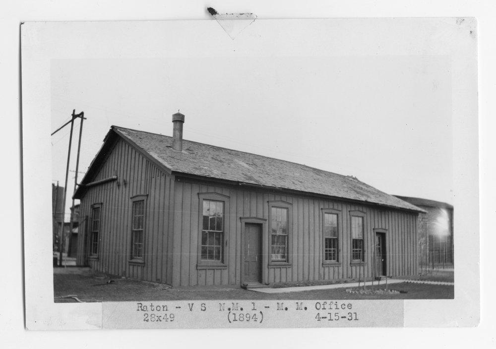 Atchison, Topeka & Santa Fe Railway Company's master mechanic office, Raton, New Mexico