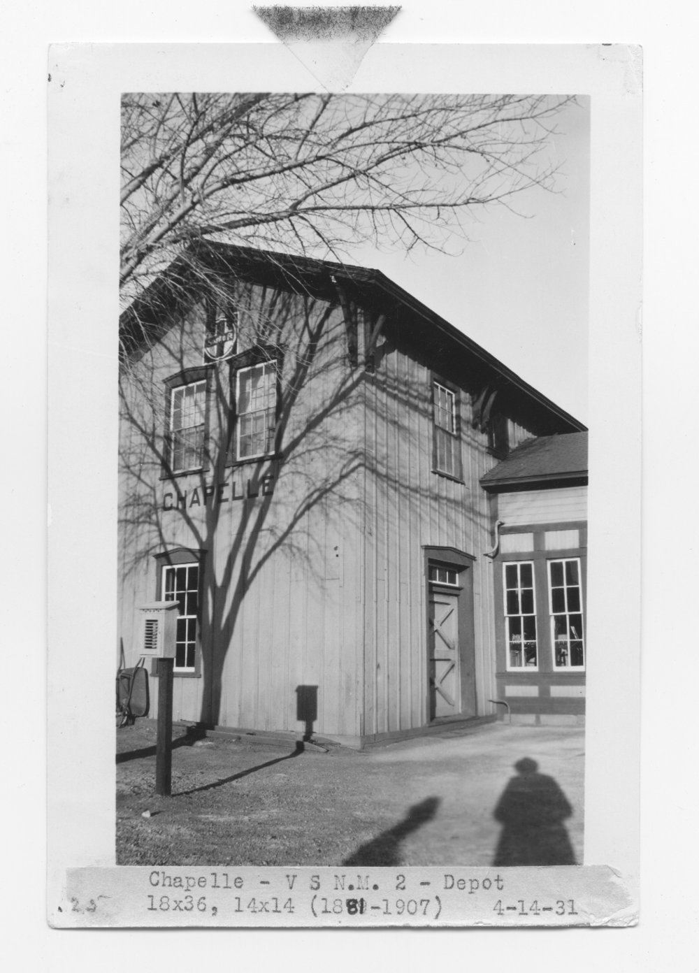 Atchison, Topeka and Santa Fe Railway Company depot, Chapelle, New Mexico