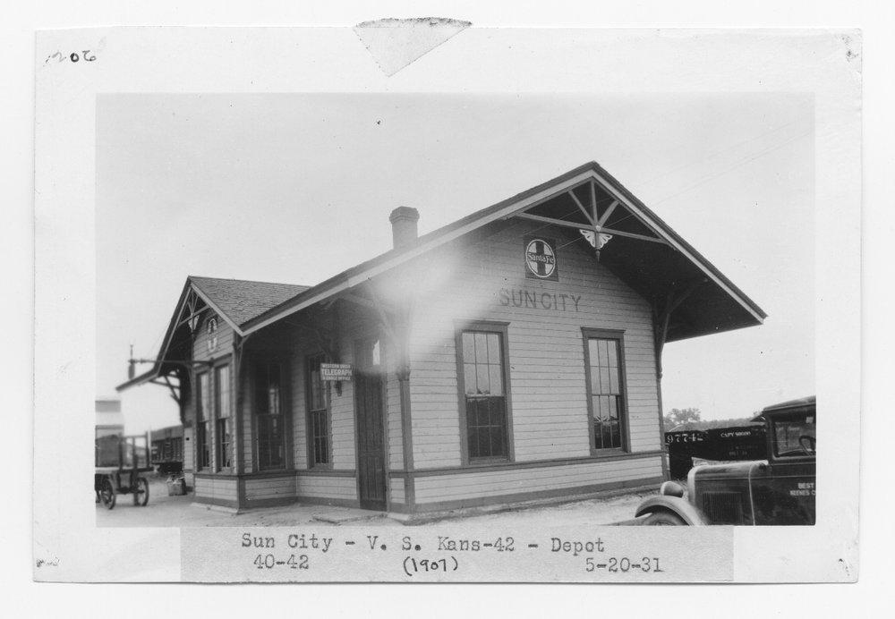 Atchison Topeka and Santa Fe Railway Company depot, Sun City Kansas
