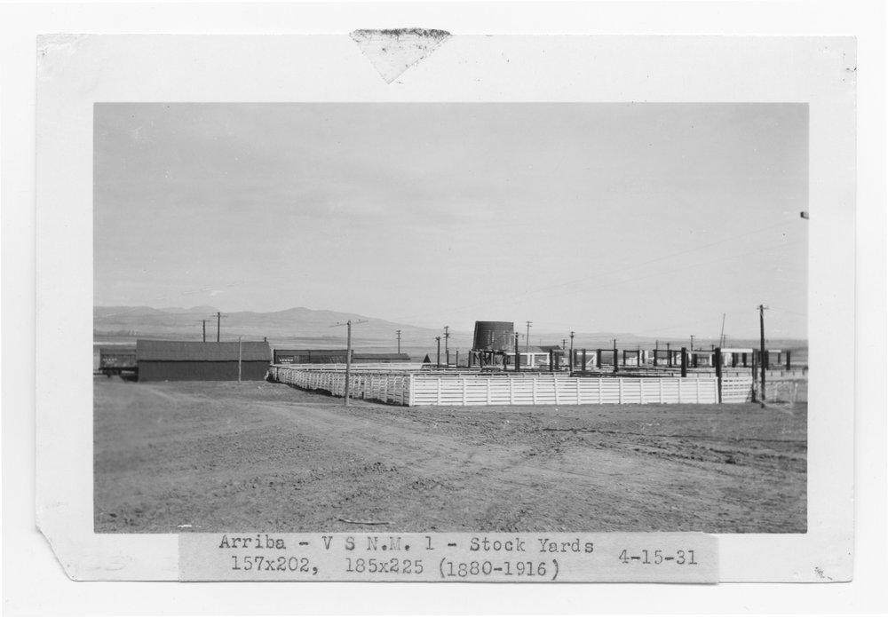 Atchison, Topeka & Santa Fe stock pens,  Arriba, New Mexico