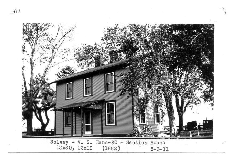Atchison Topeka & Santa Fe Railway Company section house, Solvay, Kansas