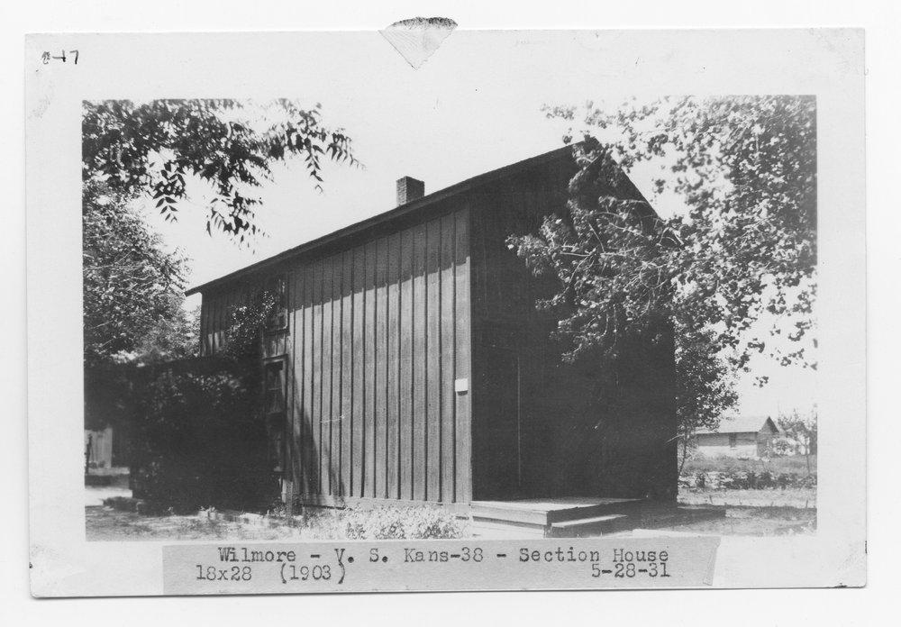 Atchison, Topeka & Santa Fe Railway Company section house, Wilmore, Kansas