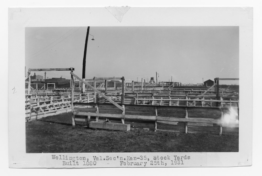 Atchison, Topeka & Santa Fe stock pens, Wellington, Kansas