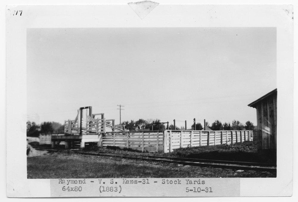 Atchison Topeka & Santa Fe Railway Company stock pens, Raymond, Kansas